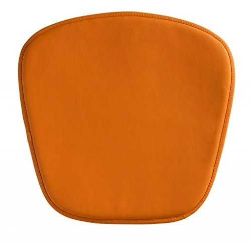 Modern Contemporary Cushion Pillow, Orange Leatherette by America Luxury - Chairs