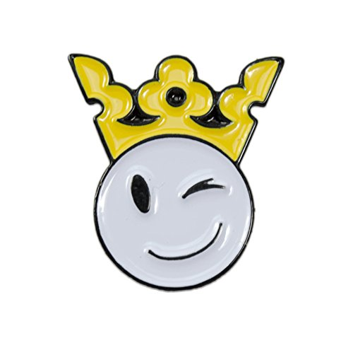 Smile Lapel Pin - Enamel Lapel Brooches Pin, Buttons Badge, Smile In The Crown, for Clothes as Jackets, Hats, School Bags and Sport Bags, Backpacks and Collars, Cool Design, Limited Edition, 1 Inch, Charity By KONUNG