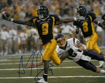 Pacman Jones Signed Photo - Adam 8x10#9 navy jersey) - Autographed College Photos