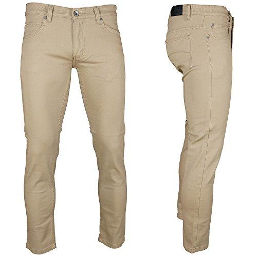 Kayden K Skinny Twill Denim Jeans Khaki 32W 32L