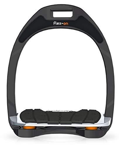 【 限定】フレクソン(Flex-On) 鐙 アルミニウムレンジ Flat grip フレームカラー:Sideral エラストマー:オレンジ 82811   B07KMNNJ7H