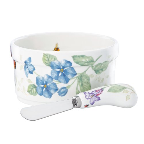 Lenox Butterfly Meadow Dip Bowl and Spreader, 2 piece set