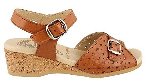 Tan Worishofer 811 Dark Sandal Low Women's Heel YC88q