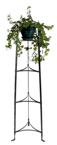 Hammered Four Steel Enclume - Enclume 4 Tier Stand with 4 Shelves in Hammered Steel
