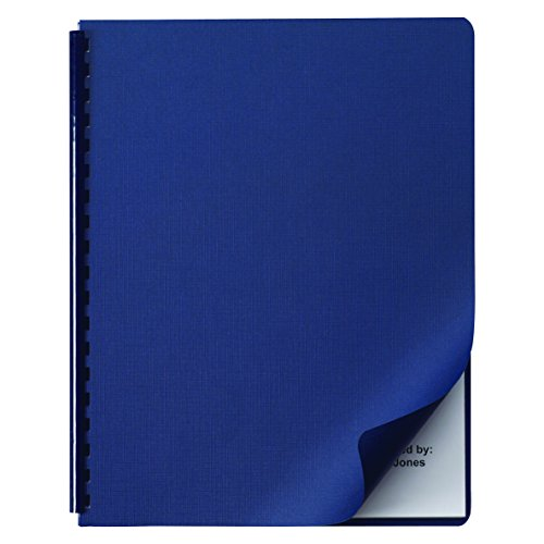 Swingline GBC 2000513 Linen Textured Binding System Covers, 11-1/4 x 8-3/4, Navy (Box of 200)