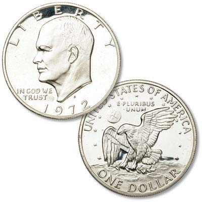 - 1972 S Silver Eisenhower Ike Proof $1 Proof