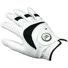TrueGrip Golf Glove with Magnetic Ball Marker White Leather Ladies Left Hand Medium