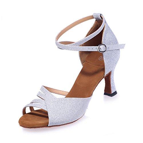 Avec Dansant Silver Chaussures Latine 5cm 8349 L Artificiel Personnalisable Multicolore yc En Cuir 7 Femmes 22 a8wwxBqU