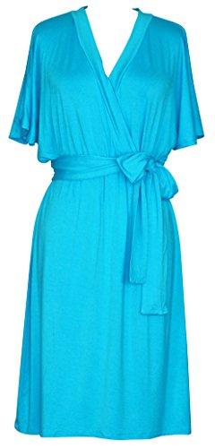 Manches Cape Femmes Doria Robe Wrap Bleu