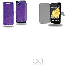 Ultra violet Collection cocodrilo Funda de Cuero para Wiko Birdy Flip Case Cover (Estuche) PU Cuero - Accesorios Case Industry Protector