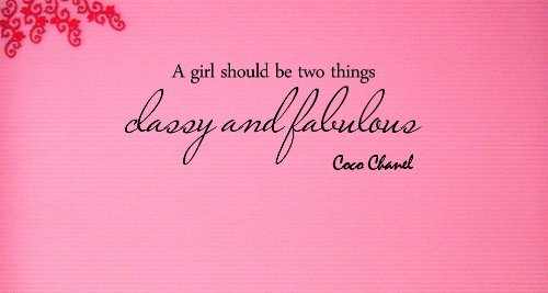 1 X A girl should be two things classy and fabulous Coco Chanel Vinyl wall art Inspirational quotes and saying home decor decal sticker