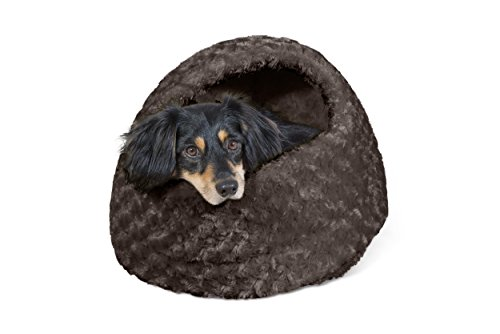 d | Ultra Plush Hood Pet Bed for Dogs & Cats, Chocolate, One-Size ()