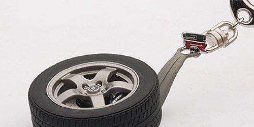 japan import AUTOartDESIGN Nissan Skyline GT-R R32 Wheel Key Chain GT-R emblem