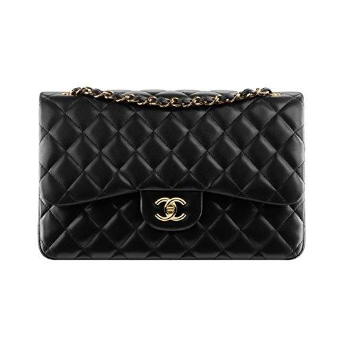 CHANEL CLASSIC FLAP BAG lambskin&metal black handbag(Medium) (Gold metal black) from[Luxury duty-free shop] ()