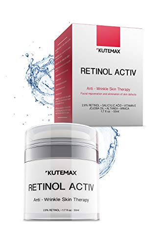 41QMAKLGrfL - Retinol Night Cream - Anti-Age Formula - Reduces Wrinkles and Fine Lines - Special Mix of Organic Skincare Ingredients - 1.7 fl oz, 50 ml