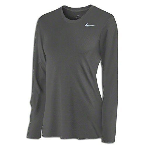 Nike Long Sleeve Body - Nike Womens Legend Long Sleeve Poly Top - Grey - XS