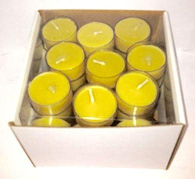 40 Handmade Beeswax Tea Lights from Beekeeper