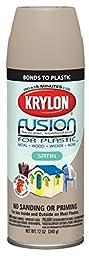 Krylon K02437001  Fusion for Plastic Spray Paint, Satin Almond
