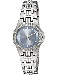 Pulsar Womens Quartz Brass and Stainless Steel Casual Watch, Color:Silver-Toned (Model: PTC555)