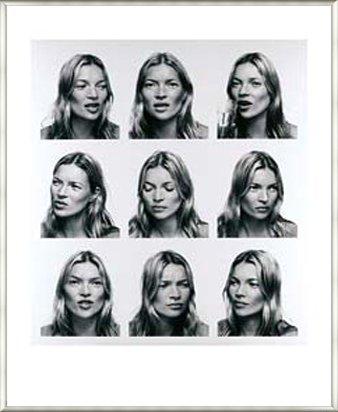 ポスター コリン デイ Kate Moss (ケイトモス) 額装品 アルミ製ベーシックフレーム(ライトブロンズ) B0097J6DUG ライトブロンズ ライトブロンズ