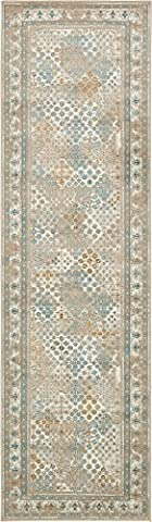 Area Rug Vintage Beige 3' x 10' FT Runner St. John Collection Rugs - Inspired Overdyed Carpet (Area Rugs Runners 10)