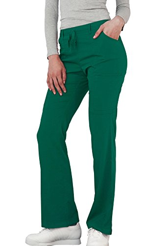 Adar Indulgenc Jr. Fit Low Rise Boot Cut Patch Pocket Pants - 4104 - Hunter Green - M