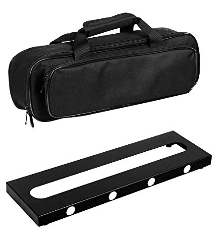GOKKO Guitar Pedal Board Case 15.7 x 4.9 Inch Pedalboard with Carrying Bag (Small) (Effect Pedal Board)