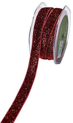 May Arts Glitter Elastic, 5/8-Inch by 10-Yard, (Red Glitter Elastic)