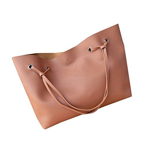 Bolso Marrón para de clothing Sintético One mujer Size al COCO hombro pxSqCf