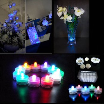 Led Lights In Glass Bowl