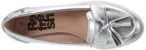 Refresh Damen 63258 Geschlossene Ballerinas Silber (Plata)