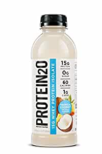 Protein2o Low Calorie Whey Protein Drink, TropicalCoconut,16.9 Ounce (Pack of 12)