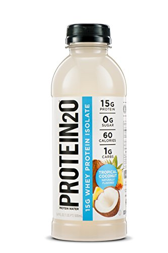 Protein2o Low-Calorie Protein Infused Water, 15g Whey Protein Isolate, Tropical Coconut (16.9 Ounce, Pack of 12) (Protein Water)