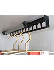 Uitschuifbare, uitschuifbare, uittrekbare kast Garderobestang van 315 mm Metalen rek voor 12 kleerhangers