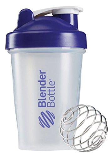BlenderBottle Classic Loop Top Shaker Bottle, Clear/Purple, 20-Ounce