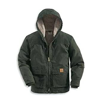 Carhartt Men's C95 Jackson Sandstone Coat - Sherpa Lined - X-Large Tall - Moss