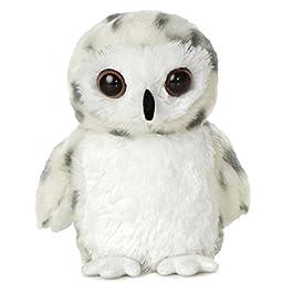 AURORA Mini Flopsies, 31345, Snowy Soft White, 8in, Cuddly Owl Toy