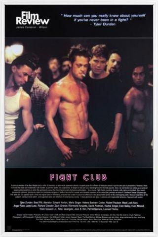 fight club poster  : 1art1 Fight Club Poster and Frame (Plastic) - Brad Pitt ...
