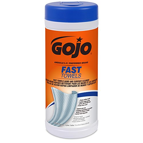 gojo-6282-06-fast-wipes-hand-cleaning-towel-25-count-canister-pack-of-6