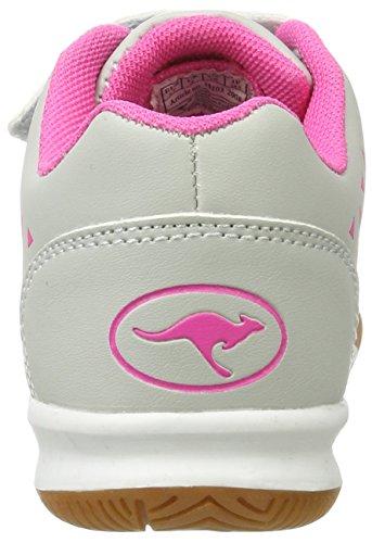 KangaROOS - Zapatillas de Material Sintético para niño Grau (Vapor Grey/Blossom Pink)