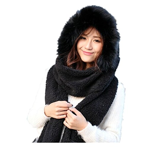 Lucky Beth Winter Warm Women Wool Hat/Scarf/Gloves Set Knitted Hat Scarf Mitten