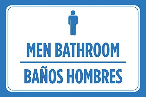 Amazon.com: Hombres baño Banos Hombres Español Azul Hombre ...
