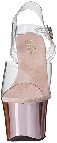 Bpch Dress Pleaser Pink Chrome Clear Sandal Sky308 Platform Women's C xqqwXt4f