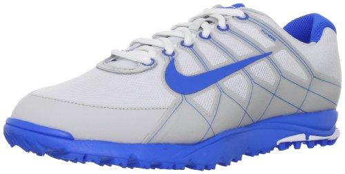 NIKE Golf Men's NIKE Air Range WP II Wide Golf Shoe, White/Neutral Grey/Photo Blue, 9 2E US ()