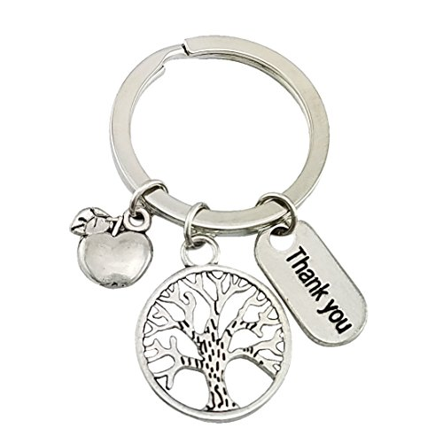 SELOVO Tree of Life Apple Key Ring Keychain Thank You Purse Charm Mother Gift Keyring