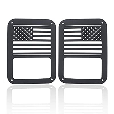 Firebug 2007-2020 Jeep Taillight Covers Stainless Steel Matte Black, Jeep Wrangler Tail Light Guards Cover, Automotive Accessories Lights Covers, Jeep Rear Light Protectors, Jeep Tail Light Protectors: Automotive