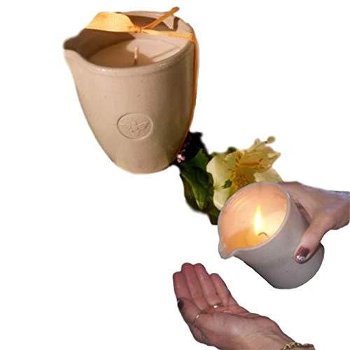 - Bee Nectar Vegan Moisturizing Massage Candle in Reusable Stoneware