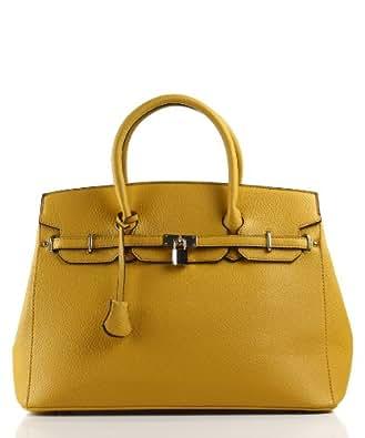 Designer Inspired London Office Tote Encore - Mustard
