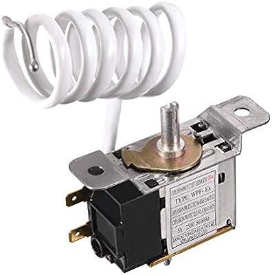 Uxcell Termostato para refrigerador, cable para congelador ...