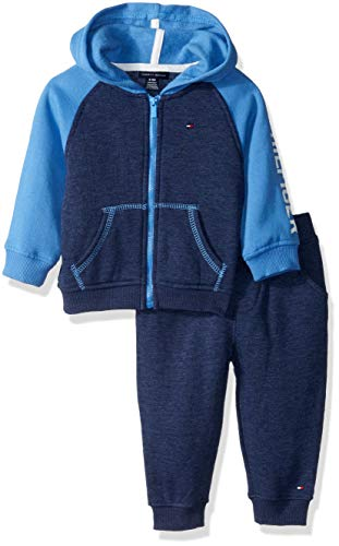 (Tommy Hilfiger Baby Boys 2 Pieces Jog Set, Navy/Blue, 3-6 Months)